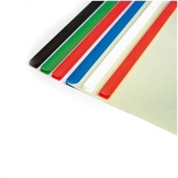 Baghete din plastic pentru indosariere 6 mm, set 50 bucati