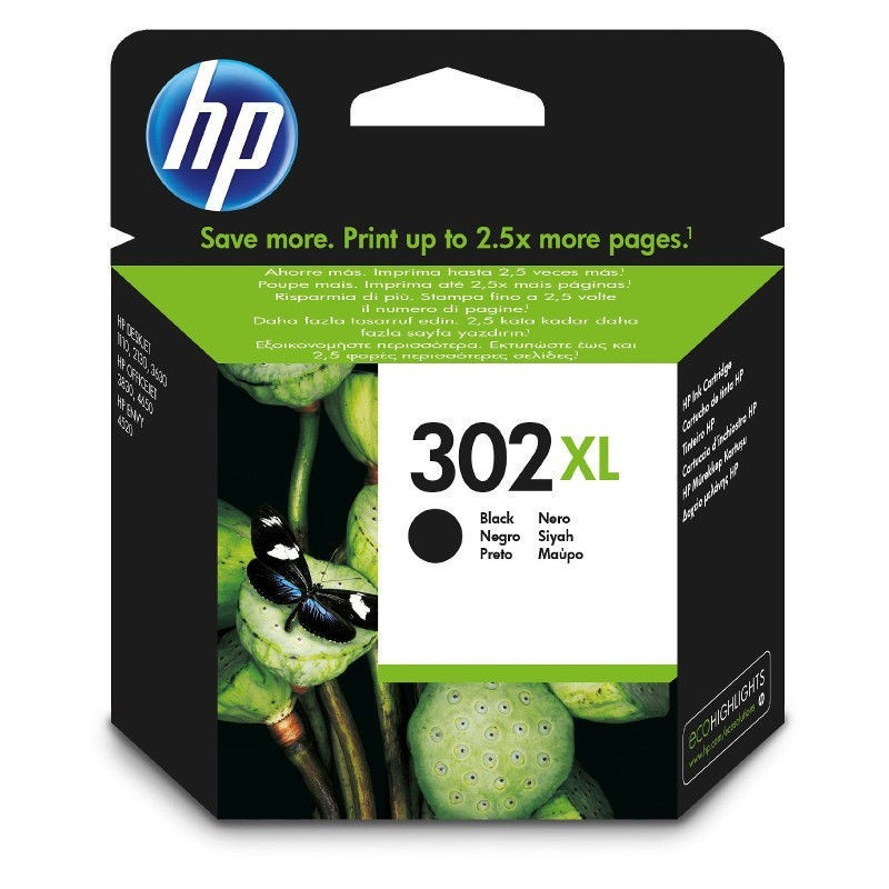 Cartus original HP302XL Black F6U68AE