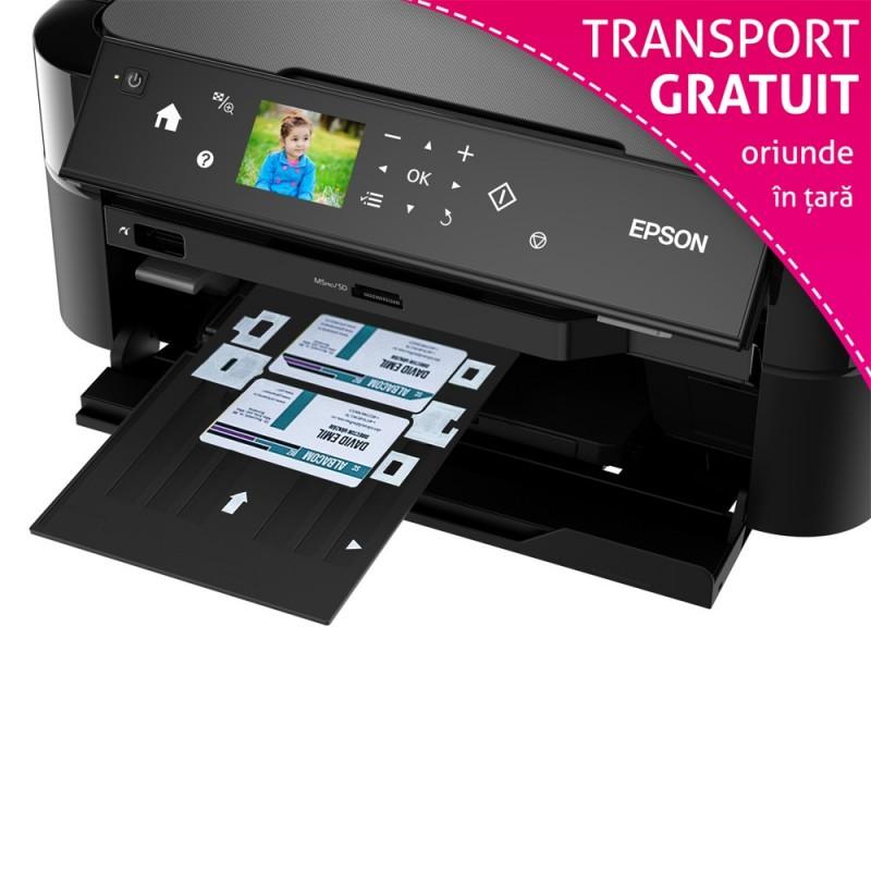 Imprimanta Epson L810 cu accesorii printare card PVC