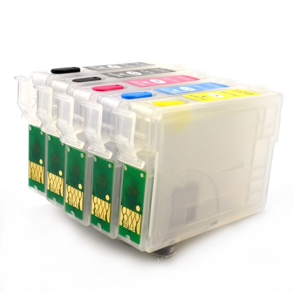 Cartuse Reincarcabile Pentru Epson T129 Cu Doua Cartuse Negre Cerneala: Cu Cerneala Dye