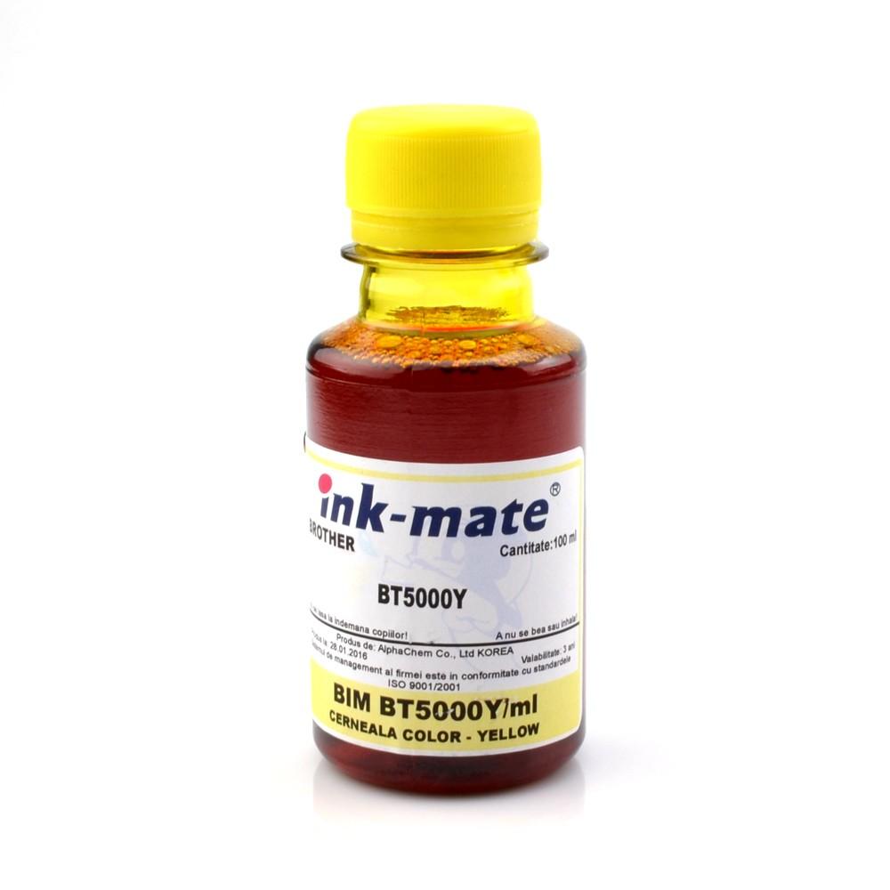 Cerneala Refill Yellow Pentru Imprimante Brother T300 T500 T700 T800 Cantitate: 100 Ml