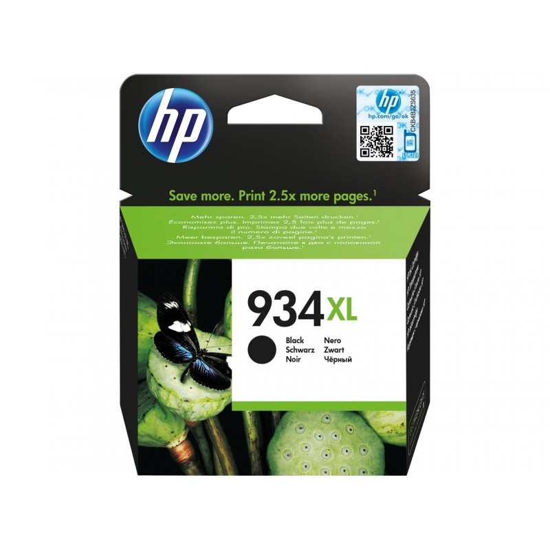 Cartus original HP 934XL Black C2P23AE de capacitate mare