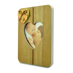 Rama foto lemn cu decoratiune inimioara aplicata Solo, Format 10x15