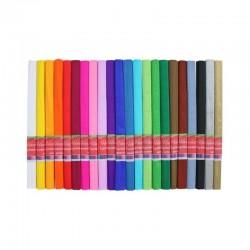 Hartie creponata colorata, set 10 bucati