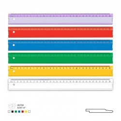 Rigla din plastic 30 cm diverse culori