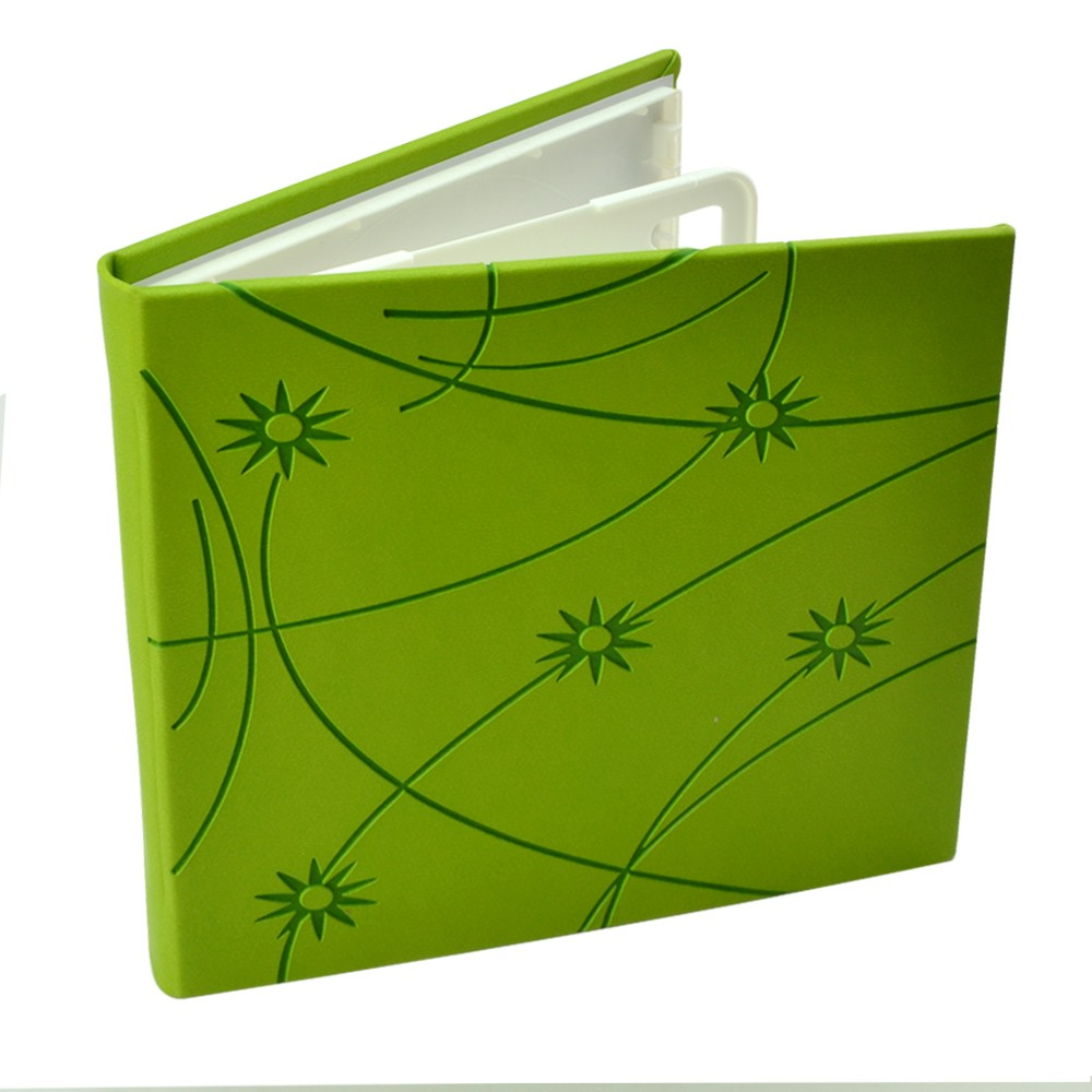 Carcasa 4 Cd Dvd Bluray Colorful  Piele Ecologica Culoare Drop-down: Verde