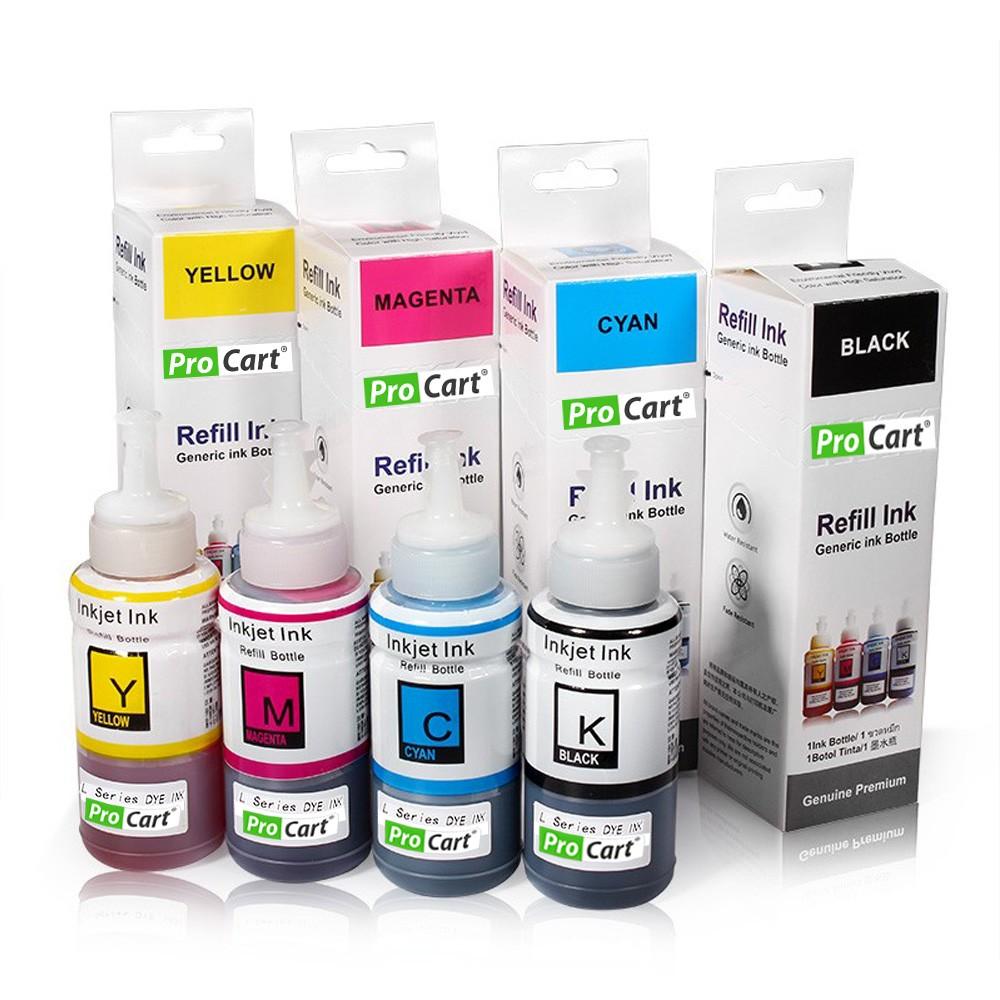 Set 4 Culori Cerneala Refill Foto Dye Pentru Epson Seria L