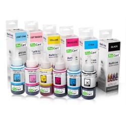 Set 6 Culori Cerneala refill Photo DYE INK  BK/M/Y/C/LM/LC  pentru Epson seria L