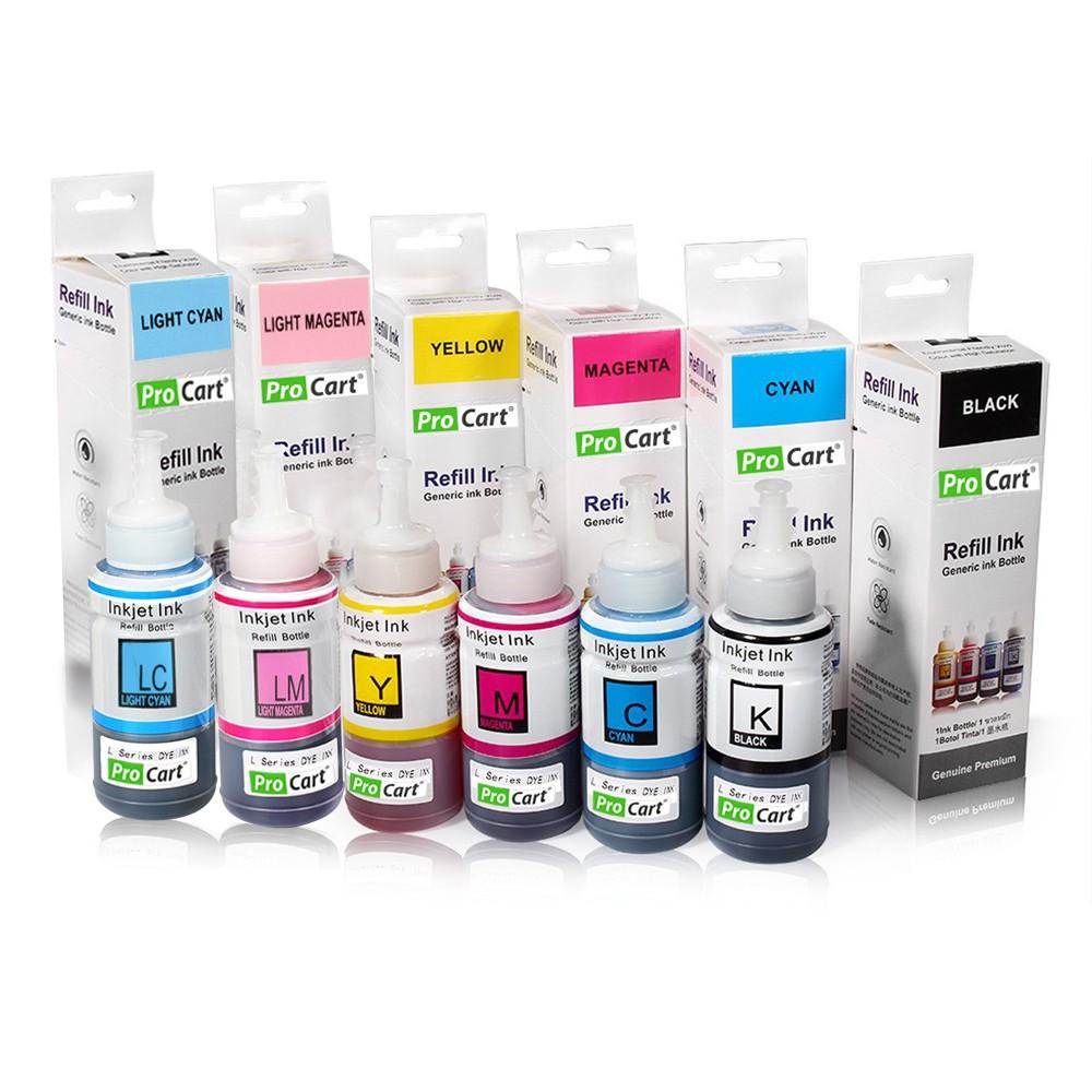 Set 6 Culori Cerneala Refill Foto Dye Pentru Epson Seria L
