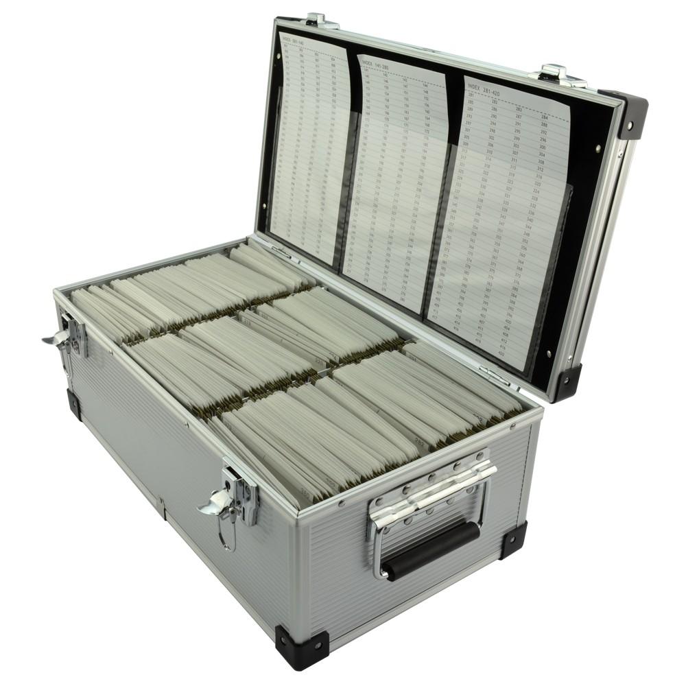 Cutie Aluminiu Pentru Stocare Discuri  Capacitate 420 Dvd/cd