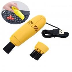 Mini aspirator USB pentru tastatura, Galben