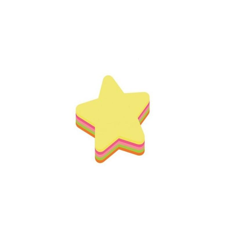 Foi colorate pentru notite in forma de stea