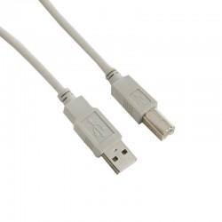 Cablu USB 2.0 pentru imprimanta, lungime 1.8 m, gri