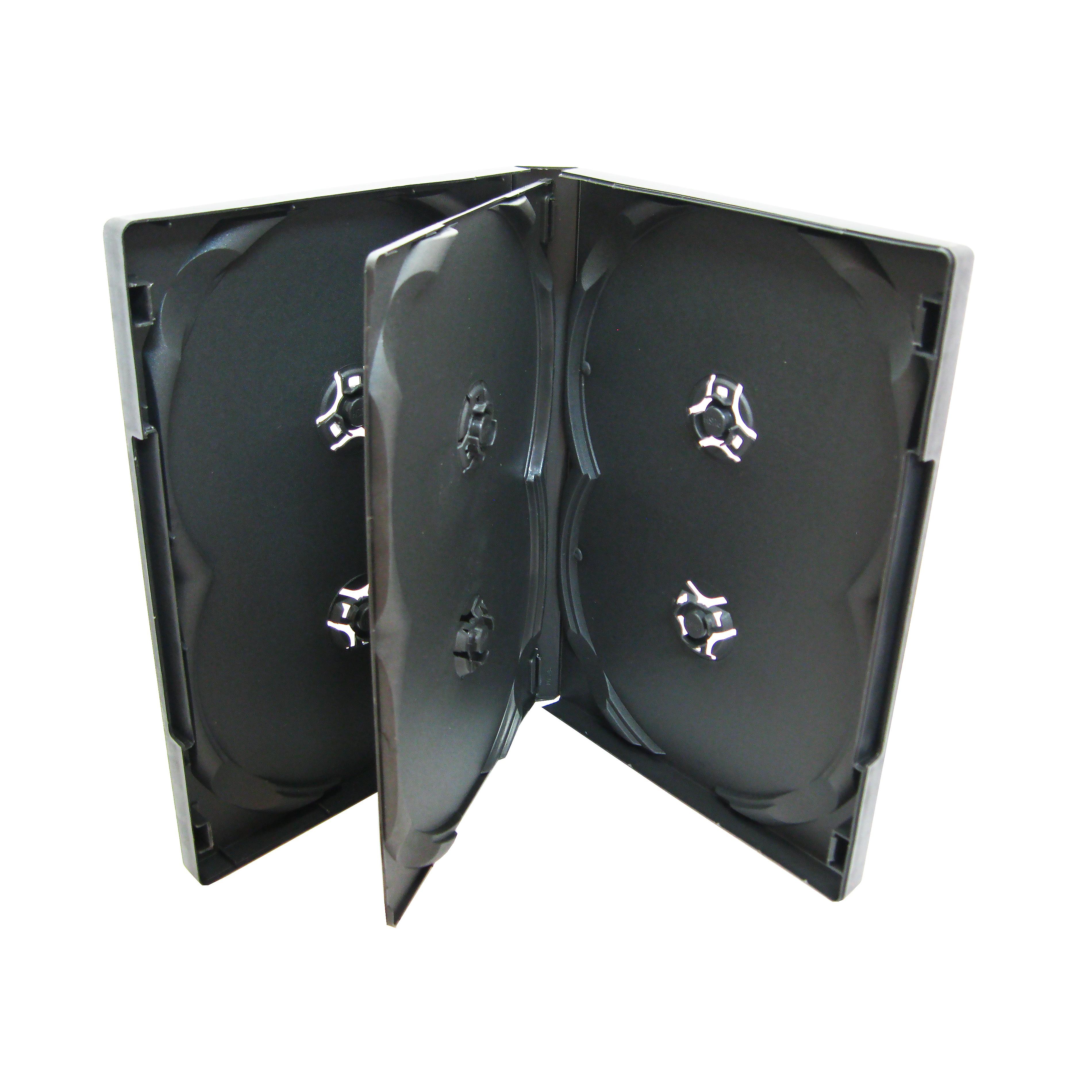 Carcasa Plastic Pentru 6 Dvd-uri Culoare: Negru