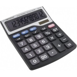 Calculator electronic de birou, solar, 12 digits, Esperanza Tales