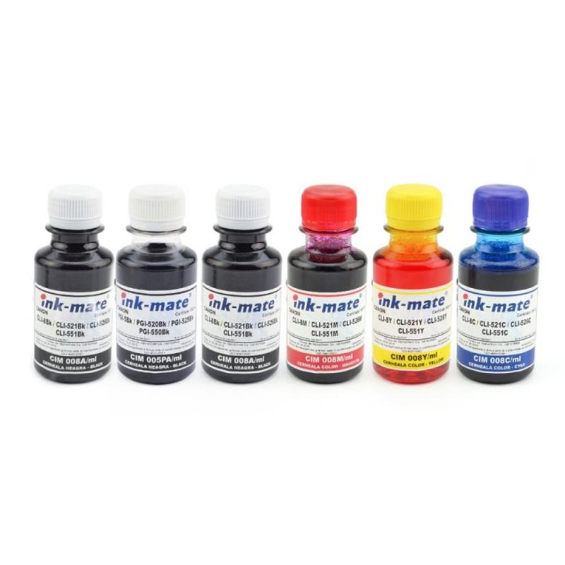 Cerneala pentru cartuse reincarcabile Canon in 6 culori