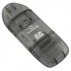 Cititor de carduri SDHC si MMC universal, slot USB, Titanum