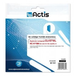 Cartus compatibil Canon CLI-571XL Black 12 ml, Actis