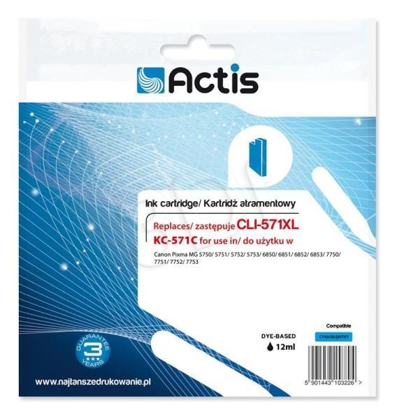 Cartus Compatibil Canon Cli-571xl Cyan  12 Ml  Actis