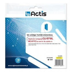 Cartus compatibil Canon CLI-571XL, Yellow, 12 ml, Actis