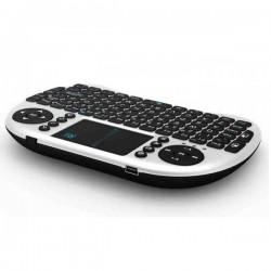 Mini tastatura Smart TV  XBox, PS, PC, Notebook cu touch pad, Alb Rii