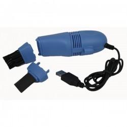 Mini Aspirator USB pentru tastatura, Albastru