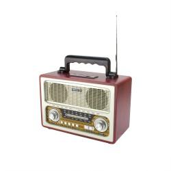 Radio portabil retro, bluetooth, 6W, MP3, USB, SD, 3 benzi AM FM SW, Sal