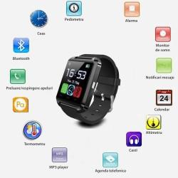 Ceas smartwatch, bluetooth, 11 functii, handsfree, MP3 player, SoVogue, negru