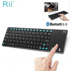 Tastatura Smart TV Rii i12+ multimedia Bluetooth cu touchpad 3.8 inch, full qwerty