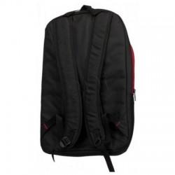 Rucsac Simple Backpack, 15.6 inch, Lenovo, buzunare multiple, negru cu rosu