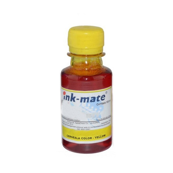 Cerneala Refil Yellow (galben) Pentru Imprimante Lexmark Cantitate: 100 Ml