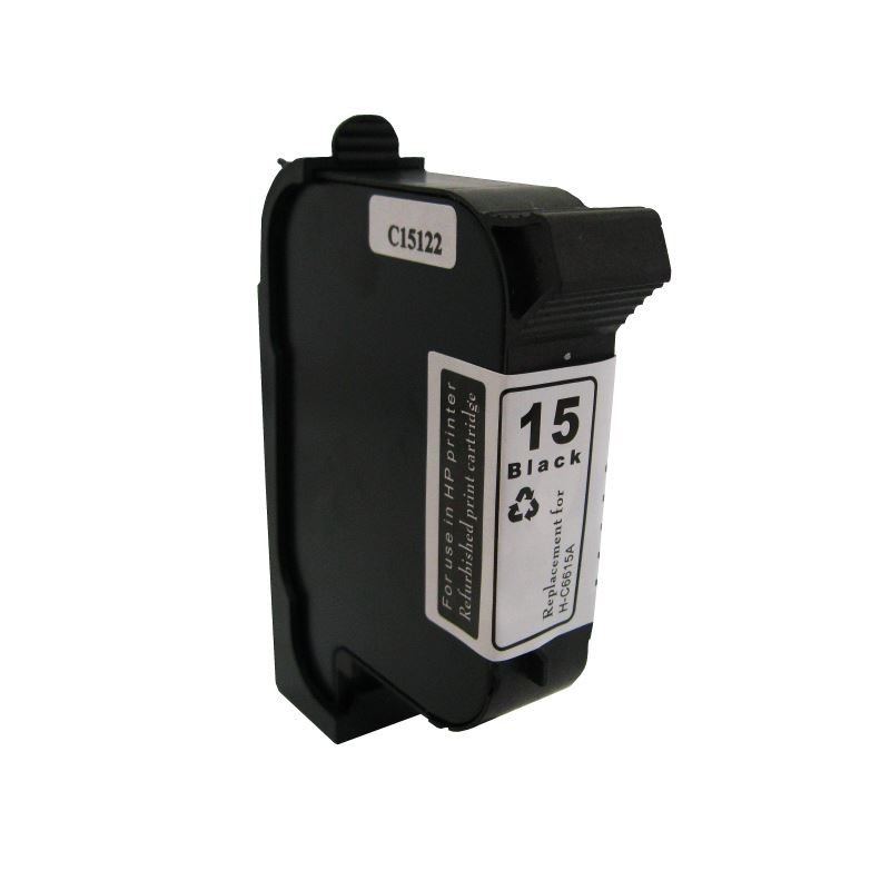 Cartus C6615DE negru remanufacturat  HP 15