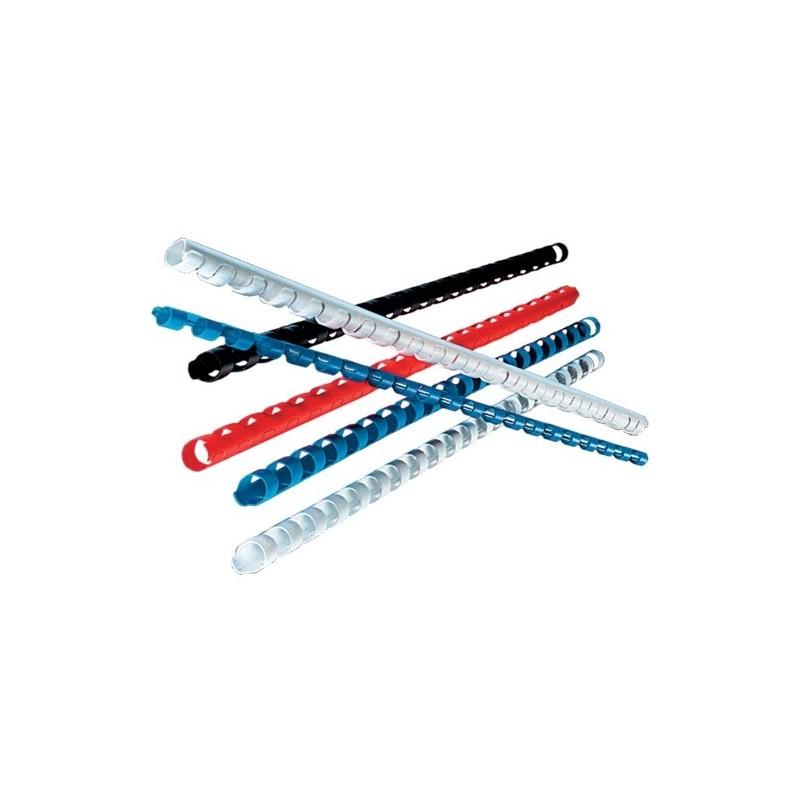 Inelele din plastic pentru indosariere diametru 8 mm