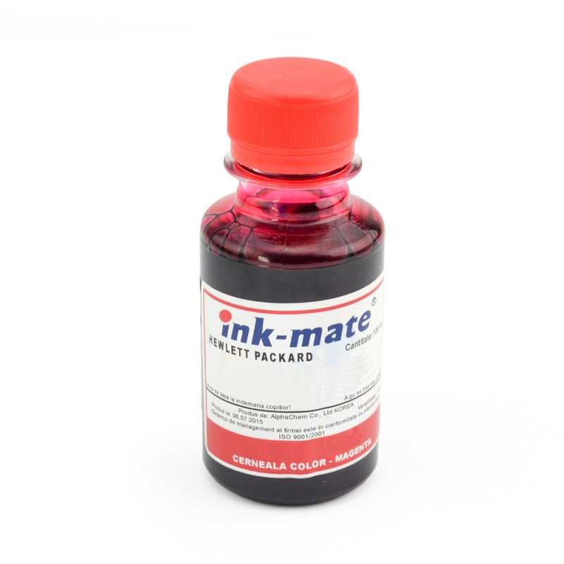 Cerneala Refil Magenta (rosu) Pentru Imprimantele Hp Cantitate: 100 Ml