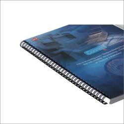 Inele spire metalice diametru 6.4mm pentru indosariere exemplu folosire