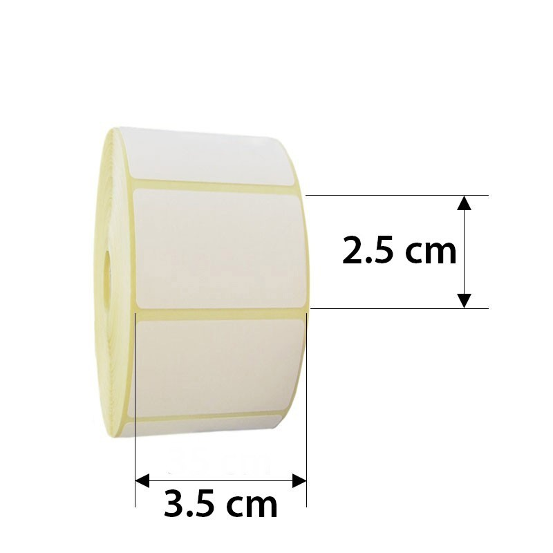 Rola etichete autoadezive direct termice pentru cantar electronic, 32 x 22 mm