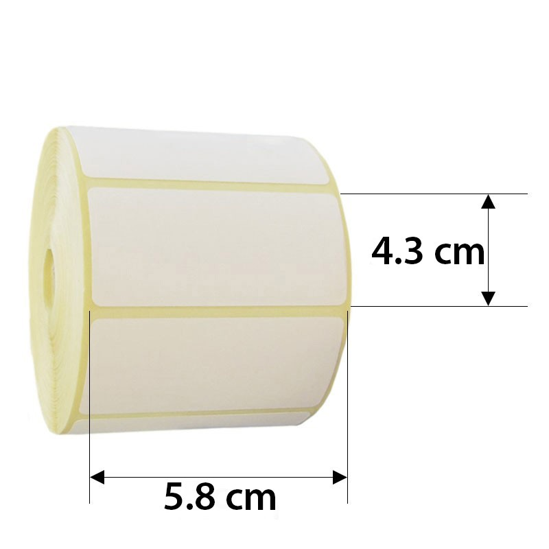 Rola Etichete Direct Termice 58x43 Mm  1000 Et./rola