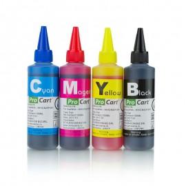 Cerneala Dye compatibila universala, 100 ml/culoare, set 4 culori