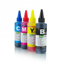 Set cerneala dye compatibila universala Bk C M Y, 100 ml/culoare