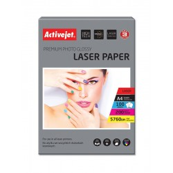 Hartie foto A4 Premium 200 Grame Glossy Activejet, Laser