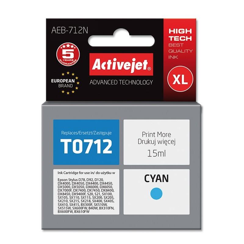 Cartus Compatibil pentru Epson T0712 C13T071240 ActiveJet