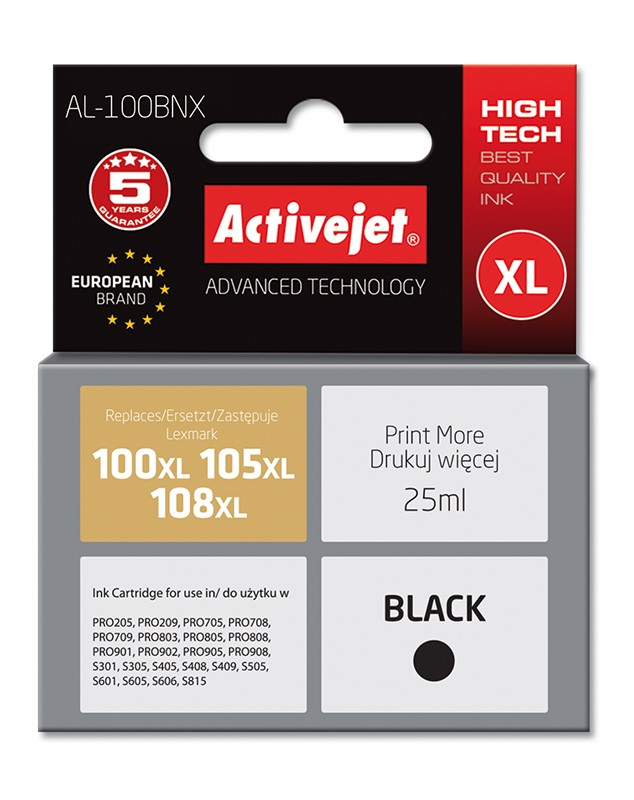 Cartus Compatibil Ac-100xl Ac-108xl Pentru Lexmark 14n1068e Black