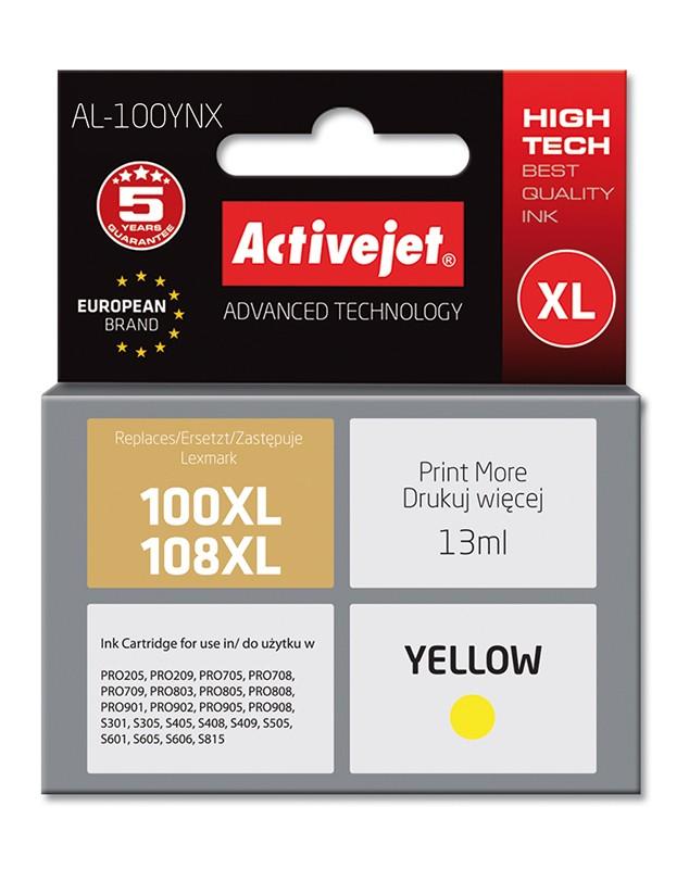 Cartus Compatibil Ac-100xl Ac-108xl Pentru Lexmark 14n1071e Yellow