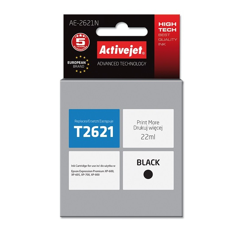 Cartus compatibil AC-T2621 pentru Epson C13T26214010 negru