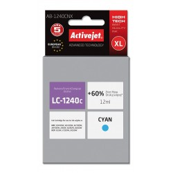 Cartus compatibil LC1240C Cyan pentru Brother, Premium Activejet, Garantie 5 ani