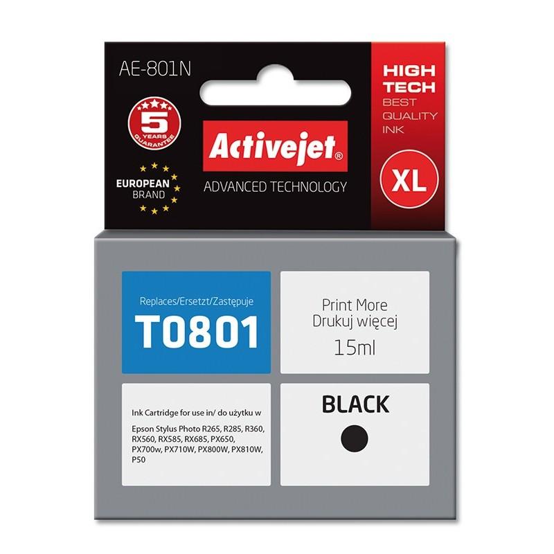 Cartus compatibil AC-T0801 black Epson C13T08014010