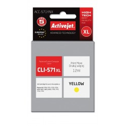 Cartus compatibil Canon CLI-571 Yellow XL, de capacitate mare