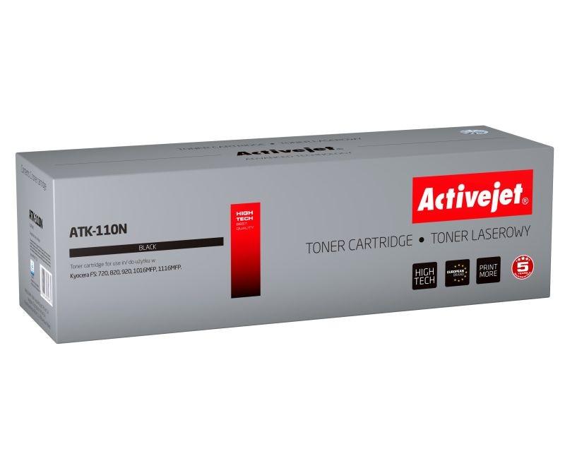 Toner Compatibil Tk-110 Pentru Kyocera  Black  Premium Activejet  Garantie 5 Ani