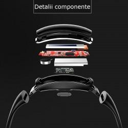 Bratara smart, bluetooth 4.0, display OLED, 15 functii, iOS si Android