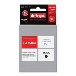 Cartus compatibil pentru Canon CLI-551Bk negru marca ActiveJet